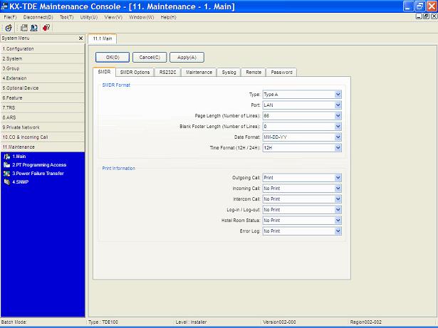 Panasonic KX-TDA-smdr-settings - Call Accounting Panasonic PBX