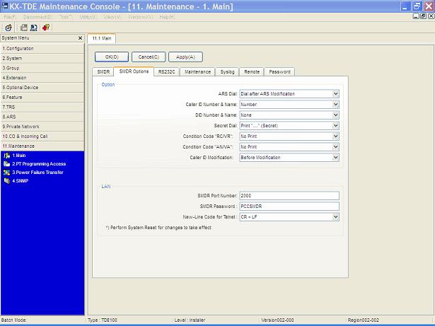 Panasonic KX-TDA-smdr-settings-2 Call Accounting Panasonic PBX